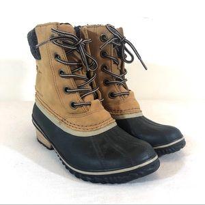 Sorel Slimpack II Lace Boot in Elk & Black 7 Women